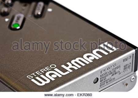 Sony Walkman II cassette music player close-up - Stock Photo