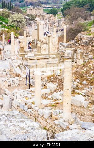 Turkey Selcuk Ephesus Curetes Street ruins of Greco Roman ...