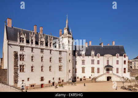 Chateau of the Dukes of Brittany, Nantes, Loire Atlantique, France. - Stock Photo