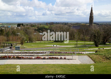 view from castle hill of the o'neill dungannon county tyrone northern ireland - Stock Photo