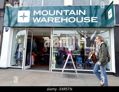 Branch of Mountain Warehouse outdoor clothing and equipment stores, London - Stock Photo