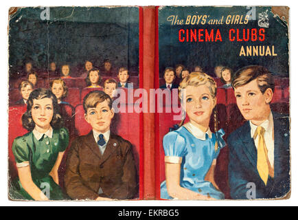 Vintage Copy of the Boys and Girls Cinema Clubs Annual - Stock Photo