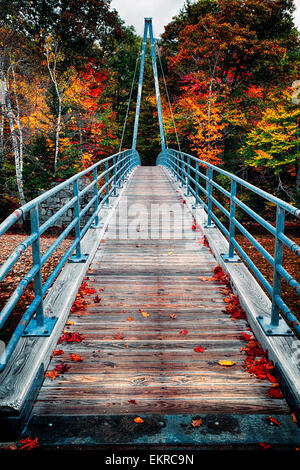 Bemis Bridge Over the Saco River, Hart's Location, New Hampshire - Stock Photo