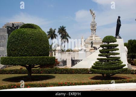 Cementerio de Cristobal Colon in Vedado,Havana,Cuba - Stock Photo