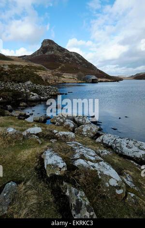 Llynau Cregennan near Cadair Idris. - Stock Photo