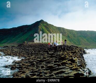 The Giant's Causeway, Co Antrim, Northern Ireland - Stock Photo