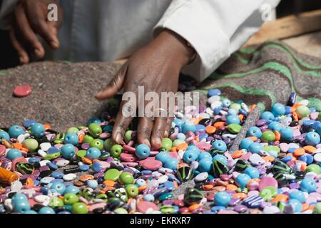 Kazuri Beads; Kenya, Africa - Stock Photo