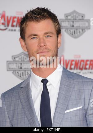 Los Angeles, CA, USA. 13th Apr, 2015. Chris Hemsworth at arrivals for THE AVENGERS: AGE OF ULTRON Premiere, The - Stock Photo