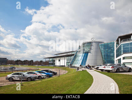 Mercedes Benz World Brooklands. - Stock Photo