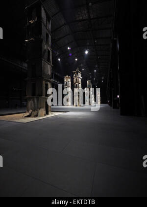 The Seven Heavenly Palaces, Anselm Kiefer artist, Hangar Bicocca, Milan, Lombardy, Italy, Europe - Stock Photo