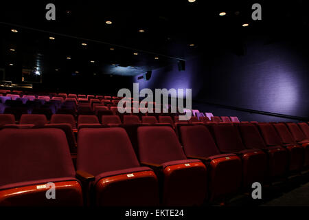 Empty Seats At A Movie Theater - Stock Photo