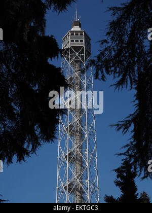 Torre Branca tower, Parco Sempione park, Milan, Lombardy, Italy, Europe - Stock Photo