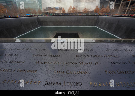 WTC Memorial Plaza, Manhattan, New York. - Stock Photo