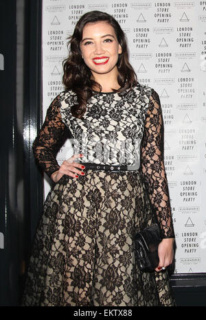25.APRIL.2013. LONDON  DAISY LOWE ATTENDS THE ELEVEN PARIS STORE LAUNCH PARTY ON CARNABY STREET IN SOHO, LONDON. - Stock Photo