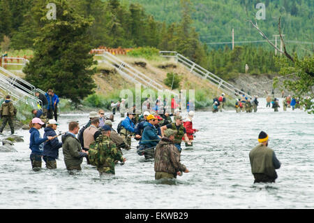 Combat sport fishing kenai russian river kp alaska stock for Russian river fishing