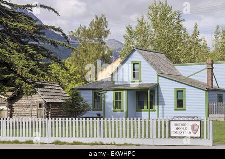 Historic Moore Homestead in Skagway Alaska - Stock Photo