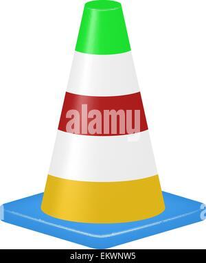 Colored traffic cone - Stock Photo