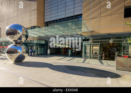 Rundle Mall's Balls are a common meeting place for visitors and South Australians located in the centre of the Adelaide - Stock Photo