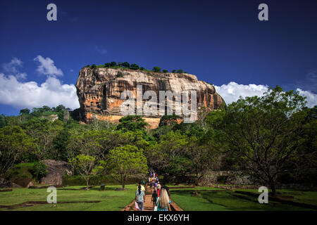 Sigiriya Lion Rock Fortress in Sri Lanka - Stock Photo