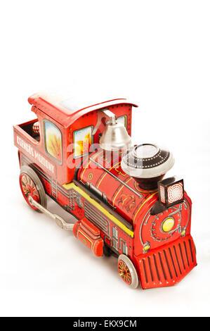 vintage steam locomotive tin toy - Stock Photo