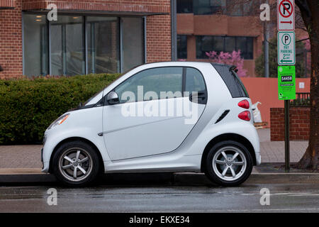 Smart Car side view - Stock Photo