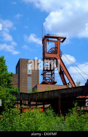 Zollverein Coal Mine Industrial Complex (German Zeche Zollverein) is a large former industrial site in the city - Stock Photo