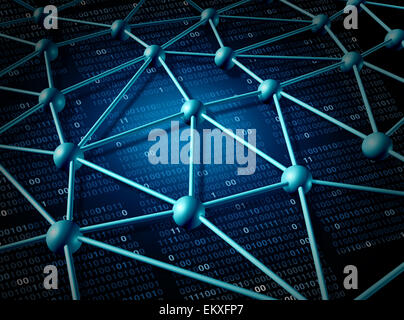 Telecommunication global network structure and networking concept with connection grid on the internet as an abstract - Stock Photo