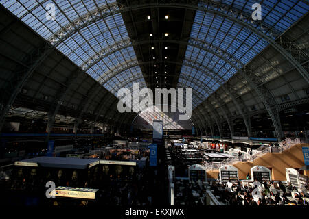London, UK. 14th Apr, 2015. Photo take on April 14, 2015 shows a general view of the London Book Fair in Olympia, - Stock Photo