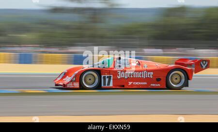 LE MANS, FRANCE - JUNE 12, 2014: Porsche 962 #17 with driver Cristophe D'Ansemboug - Stock Photo
