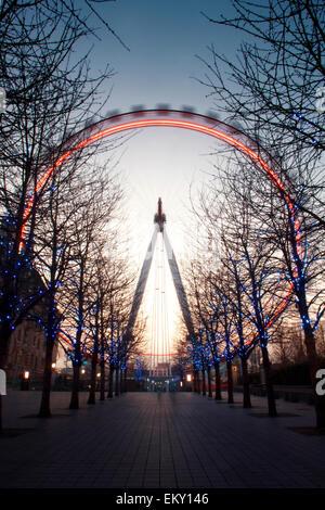 London Eye, London, UK - Stock Photo