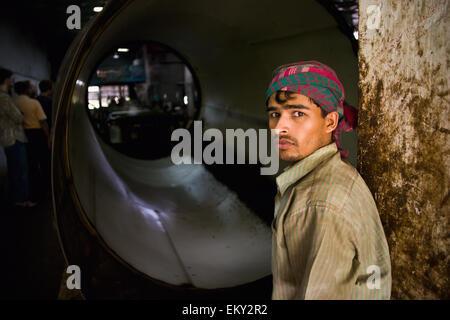 A Worker In A Tea Plantation; Sylhet Bangladesh - Stock Photo