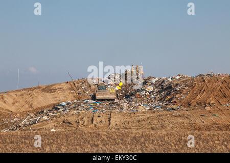 Landfill near Porterville, Tulare County, San Joaquin Valley, California, USA - Stock Photo