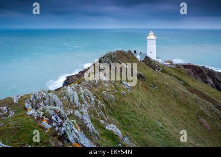 Start Point lighthouse, East Prawle, South Hams, Devon, England, United Kingdom, Europe. - Stock Photo