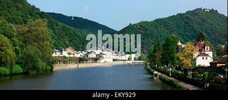 Bad Ems, Rheinland-Pfalz, Germany; The River Lahn - Stock Photo