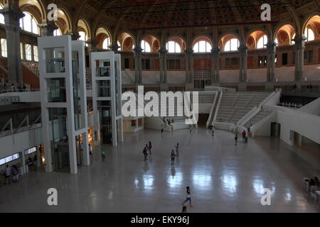 The hall of the Museu Nacional d'Art de Catalunya (MNAC) in Barcelona, Catalunya, Spain, August 2014 - Stock Photo