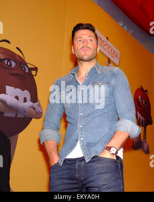 London, UK. 14th Apr, 2015. Mark Wright. Talent arrive for M&M's Election party in Leicester Square. Credit:  Rachel - Stock Photo