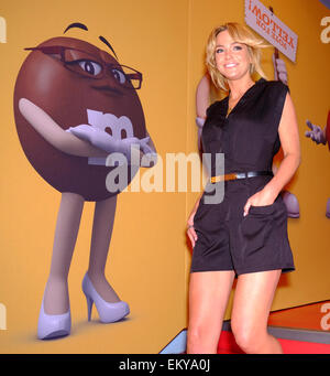 London, UK. 14th Apr, 2015. Sarah Harding. Talent arrive for M&M's Election party in Leicester Square. Credit:  - Stock Photo