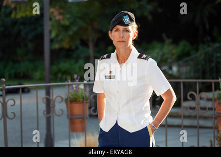 Colonel Kimberly M. Colloton. Raphael Sbarge films FoLAR documentary about the Los Angeles River, Los Angeles, California, - Stock Photo
