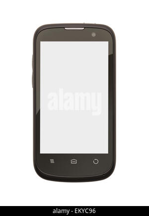 Cell Phone with Copy Space Isolate on White Background. - Stock Photo