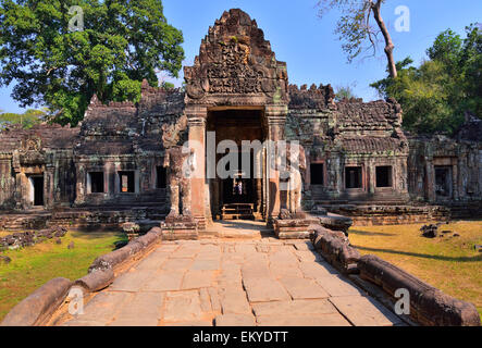 Preah Khan temple in Angkor wat, Siem Reap, Cambodia. - Stock Photo