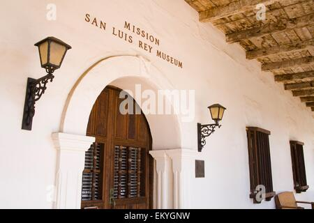 Museum Entrance At San Luis Rey Mission Church; Oceanside, California, United States Of America - Stock Photo