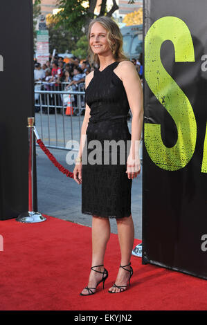 LOS ANGELES, CA - JUNE 26, 2012: Helen Hunt at the world premiere of 'Savages' at Mann Village Theatre, Westwood. - Stock Photo