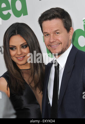 LOS ANGELES, CA - JUNE 22, 2012: Mila Kunis & Mark Wahlberg at the world premiere of their movie 'Ted' at Grauman's - Stock Photo