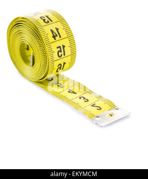 scroll of measure tape isolated - Stock Photo