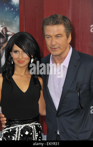 LOS ANGELES, CA - JUNE 9, 2012: Alec Baldwin & date at the world premiere of his new movie 'Rock of Ages' at Grauman's - Stock Photo