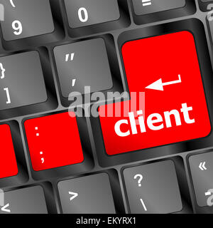 client button on computer keyboard - Stock Photo