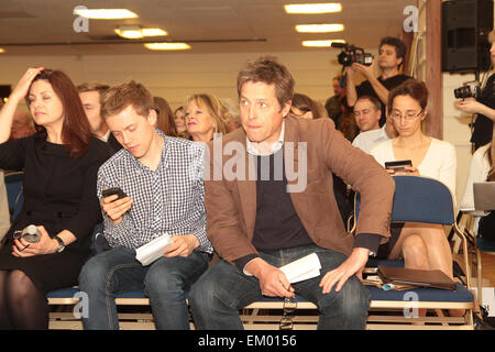British actor Hugh Grant at a rally for media reform organised by Hacked Off and the Co-ordinating Centre for Media - Stock Photo