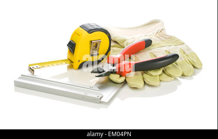 tools with gloves - Stock Photo