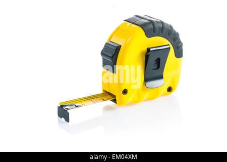 an yellow tapeline - Stock Photo