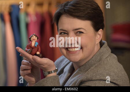 Hawick, Scotland, UK. 15th April 2015. Ruth Davidson, currently leader of the Scottish Conservative and Unionist - Stock Photo